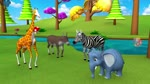 The Five Friends English Story | Zoo and Forest Animals Cartoons