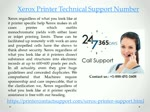 Xerox Printer Technical Support Number +1-888-451-1608