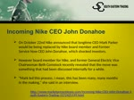 Incoming Nike CEO John Donahoe- South Eastern Trading Tokyo