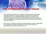 Primus Trade Taiwan | Our Investment Process Taiwan