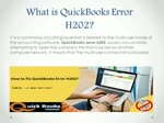 Dealing with QuickBooks Error Code H202 - All the Details