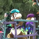 Adorable show from chipmunks on stage