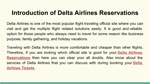 Delta Airlines Reservations Official Site Services