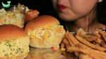 ASMR Egg,cheese sandwich,fried potato,popcorn chickenMUKBANG(Eating sounds)계란샌드위치,치츠샌드위치,감자튀김 먹방[Quiz2-2]