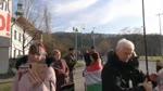 Tüntetés Orbán Viktor évértékelő beszéde alatt