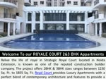 Royal Court 2bhk and 3bhk Flats in Sector-16, Greater Noida West