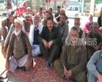 Former employees of AKLASC hold protest against the administration in PoK