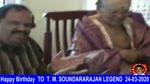 Happy Birthday To T. M. Soundararajan Legend 24-03-2020,.,