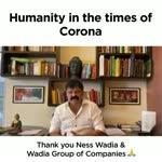 Ness Wadia and company helps India fight Corona | Wadia Group | Ness Wadia