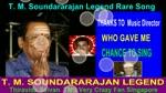 T. M. Soundararajan Legend Rare Song Vol 25