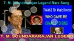 T. M. Soundararajan Legend Rare Song Vol 31