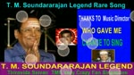 T. M. Soundararajan Legend Rare Song Vol 37