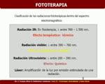 FOTOTERAPIA GENERALIDADES Y BASES FISICAS
