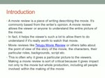 Why Reading and writing movie review is important