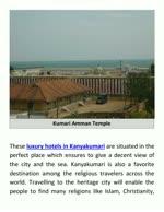 Admired Holy Places Close To Kanyakumari Hotels