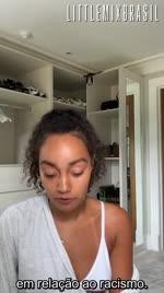Leigh-Anne usa seu IGTV para falar sobre sua experiência com o racismo