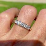 Vintage 14K Gold Five Stone Diamond Wedding Ring