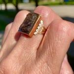 Vintage 14K Rose Gold Cameo Ring
