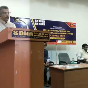 Mr. Chocko valliappa in International VirtualConference on AppliedScience, Technology, Management & Language - ASTMLS 2020.