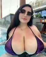 big boobs girl beautifuil swimsuit hot