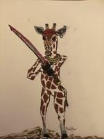 Giraffe warrior