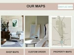 Hand Drawn Maps   Framed in OAK   We Draw Your Map @ Someplace When
