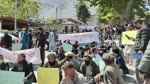 Contractual workers in Gilgit Baltistan hit streets, demand job regularisation