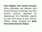 Pest Control Services in Narsingi