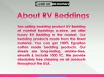 Affordable & Most Selling RV Bedding at Comfort Beddings