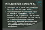 Chem 30 D.03 Equilibrium Law and Constant