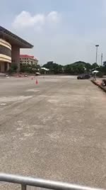 Gymkhana racing at Hoa Lu, Ninh Binh