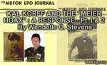Mufon UFO Journal - KAL KORFF AND THE MEIER HOAX A RESPONSE By Wendelle C. Stevens
