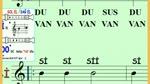 Blok flüt 2.Alıştırma Si Notası Du Üfleyin Sol el Üstte 4 lük nota ve sus var 3.Alıştırmaya Geçin